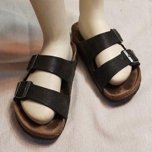 BIRKENSTOCK💟Arizona Black Leather Sandals